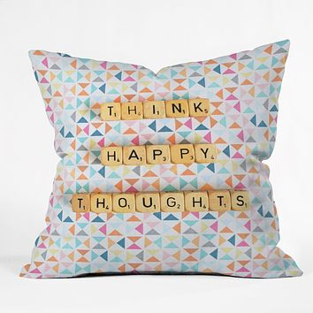 Happee Monkee Think Happy Thoughts Throw Pillow