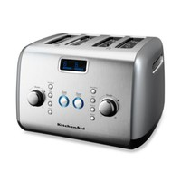 KitchenAid® 4-Slice Digital Motorized Toaster in Silver