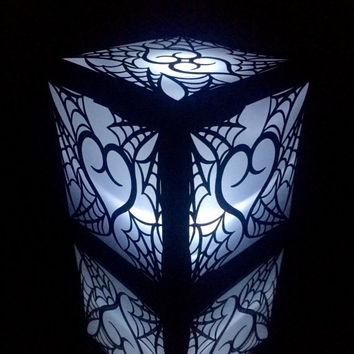 spider web heart gothic halloween wedding lanter centerpiece spooky paper luminary party light decore