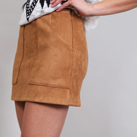 Better With Suede Skirt {Camel}