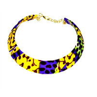 Yellow Choker Necklace