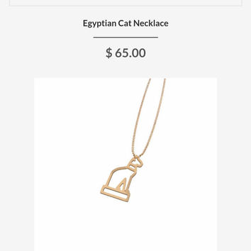 EGYPTIAN CAT NECKLACE