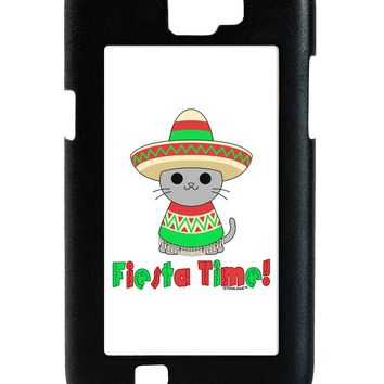 Fiesta Time - Cute Sombrero Cat Galaxy Note 2 Case  by TooLoud