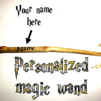 Popular magic wand Harry Potter. Magical Magic Wand Cosplay Costume Halloween. Custom name personalized magic wands. Name print magic wand.