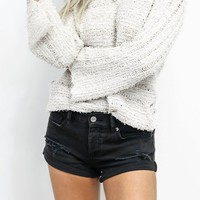 AMUSE SOCIETY Black Crossroads Denim Shorts