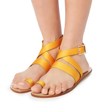 Hallie Yellow Toe Ring Sandals