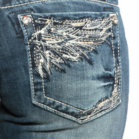 Miss Me Med 91 Winged Bootcut Jeans
