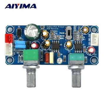 ac NOOW2 Aiyima  1pcs DC 9-32V Low Pass Filter Bass Subwoofer Pre-AMP Amplifier Board Single Power