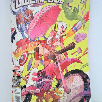 Gwenpool Clutch Bag - Upcycled Comic Book Purse