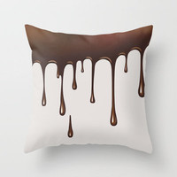 Chocolate Throw Pillow by All Is One