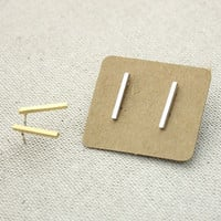 Slim and Long Bar Stud Earrings in 3 colors, E0207K
