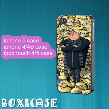 Despicable Me Minion---iphone 4 case,iphone 5 case,ipod touch 4 case,ipod touch 5 case,in plastic,silicone,cute iphone 4 case,ipod 5 case.