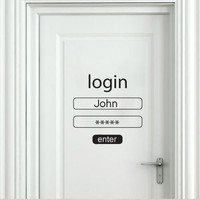 Quote wall decal - Login and Password - Wall Decals , Home WallArt Decals