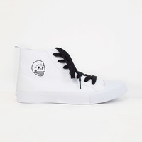 Women's Cheap Monday Skull White HiTops