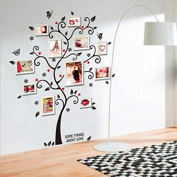 3D DIY Removable Photo Tree Wall Decals/Adhesive Wall Stickers Mural