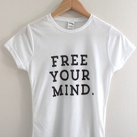 Free Your Mind Graphic Junior's Fitted Tee