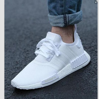 "Women ""Adidas"" Fashion Trending Beige And Gray Leisure Running Sports Shoes white"