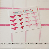 FREE SHIPPING E1 Monthly cycle period tracker time of the month stickers for Erin Condren Life Planner/Plum Paper Planner - set of 16