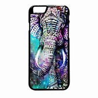 Elephant Aztec In Galaxy Nebula Space iPhone 6 Plus Case