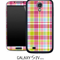 Color Plaid Skin for the Samsung Galaxy S4, S3, S2, Galaxy Note 1 or 2