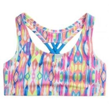 Tie Dye Cross Back Sports Bra | Girls Bras Pjs, Bras & Panties | Shop Justice