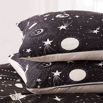 Heather Dutton For Deny Solar System Pillowcase Set | Urban Outfitters