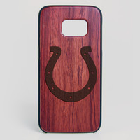 Indianapolis Colts Galaxy S7 Edge Case - All Wood Everything