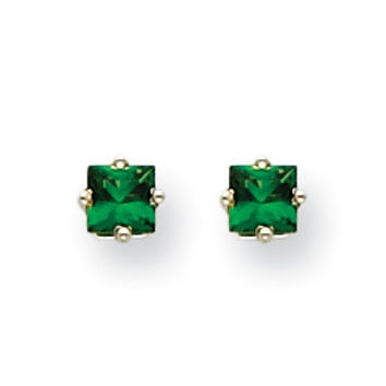 14k White Gold Tsavorite Post Earrings XE60WTS-B