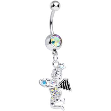 Aurora Gem Cherubic Angel Dangle Belly Ring
