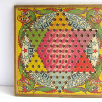 1930 Chinese Checkers Board Game Toy