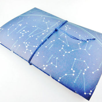 School Planner with Constellation Cover | Pretty Agenda | Undated Weekly Planner | College Planner | Zodiac Date Book | Dark Blue Planner