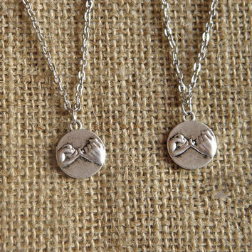 2 promise necklace for lover friendship