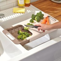 The Lakeside Collection 2-in-1 Cutting Board/Colander