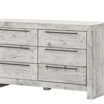 Hadley 6 Drawer Dresser RUSTIC WHITE