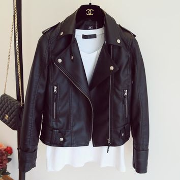 Stylish Leather Motorcycle Jacket