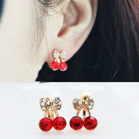 NT0129 Cherry fruit without pierced ear clip U-
