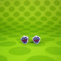 Legend of Zelda Tiny Hylian Shield Earrings