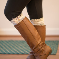 Vintage Lace Boot Cuffs - Ivory