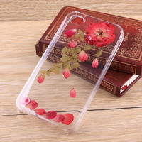 Rose leaves resin pressed flower iPhone case Galaxy case 025