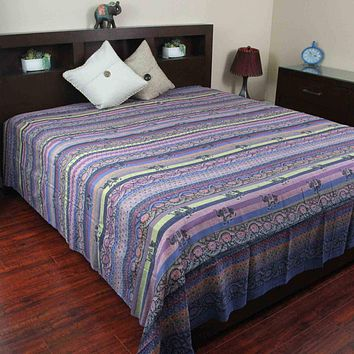 Paisley Tapestry Elephant Wall Hanging Bedspread Tablecloth Twin Full Queen