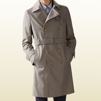 cotton poly twill trench coat 361490Z76512466