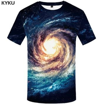 KYKU Brand Galaxy T Shirt Space T-shirts Nebula Tshirt Short Sleeves Shirts T Shirt Women Clothing Fitness 3d Anime T Shirts