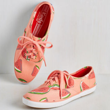 Fruits Fruits and Flatters Sneaker in Watermelon by Keds from ModCloth