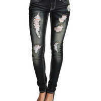 Rips Skinny Jean Pants by Basic Essentials