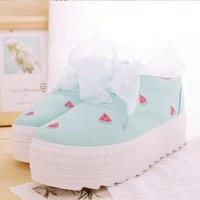 WATERMELON SHOES (MINT GREEN) from Storeunic