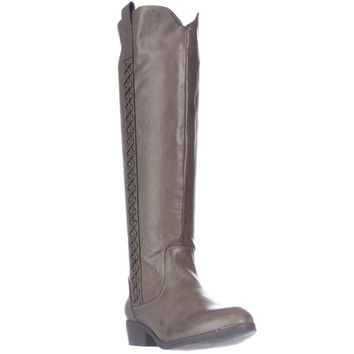 MIA Crossingss Knee-High Boots, Taupe, 6 US