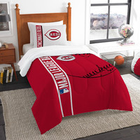 Cincinnati Reds MLB Twin Comforter Set (Soft & Cozy) (64 x 86)
