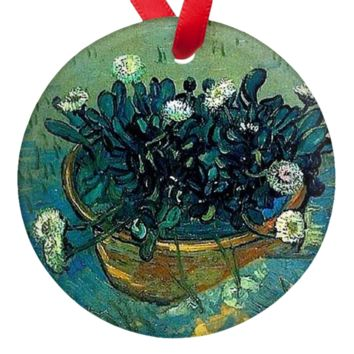 Van Gogh Flowers in a Bowl Porcelain Ornaments