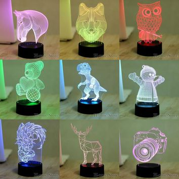 Color Visual USB Table LED Night Lights