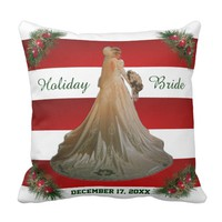 Holiday Bride Love Throw Pillow